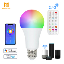 LED Smart Bulb WiFi Dimmable Remote Timer E27 9W Bubble Lamp For Living Room Decor Lighting Support Alexa Google Voice Control