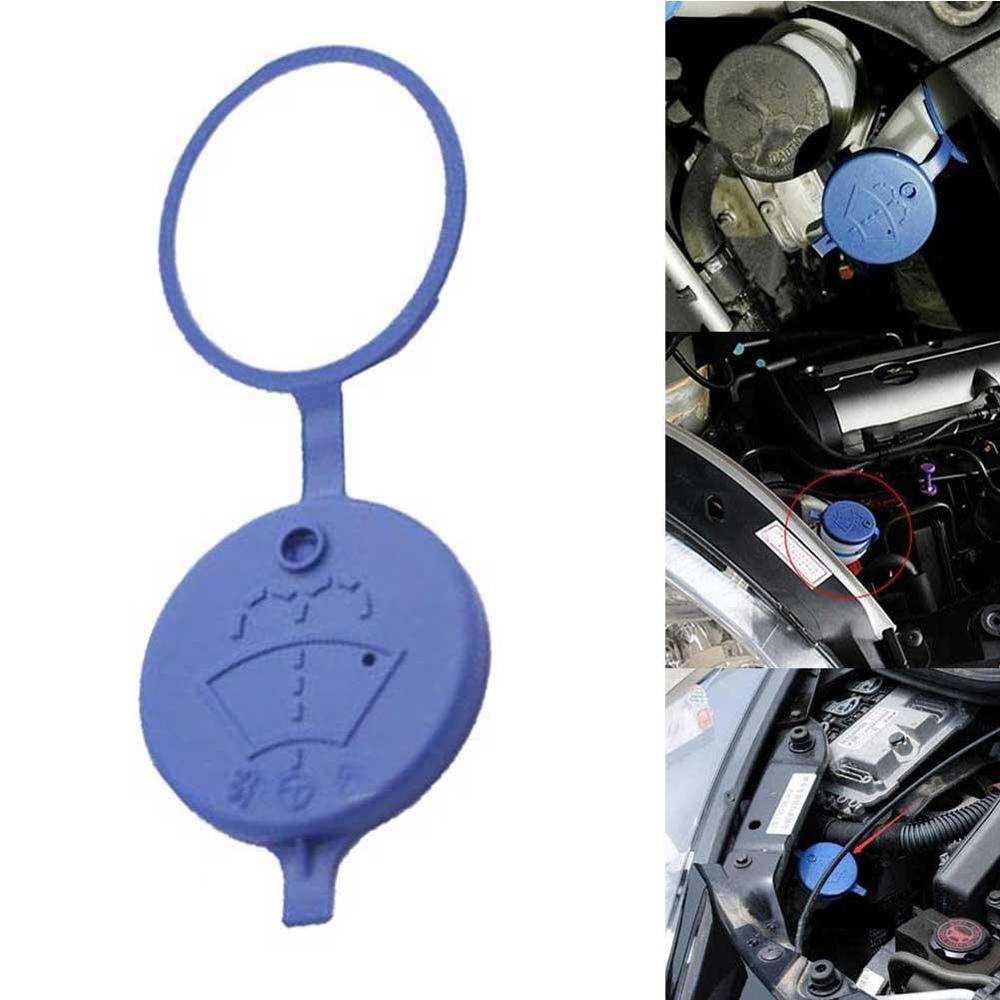Cover Wiper Reservoir Tank-Bottle Washer-Fluid Car-Windshield Blue Peugeot/citroen-Pair