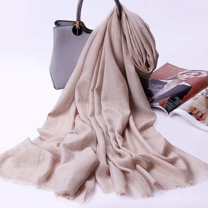 100% laine Plaid écharpe pour femmes hiver automne châles enveloppes pour dames chaud mode Pure laine écharpes Pashmina étoles écharpes