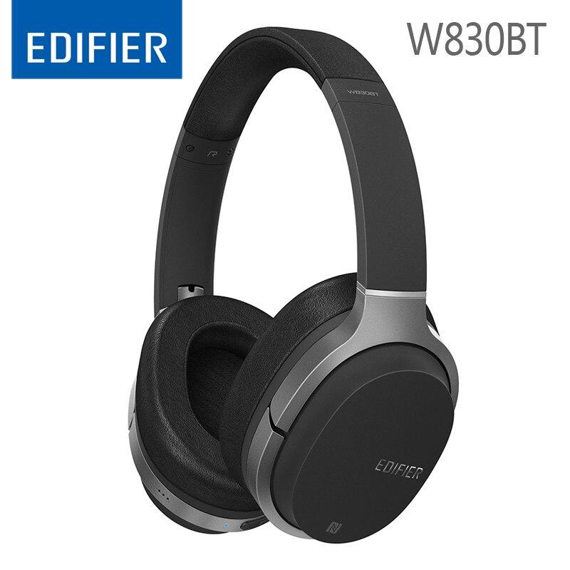 Edifier w830bt bluetooth fones de ouvido estéreo alta fidelidade bluetooth4.1 redução ruído fone sem fio para ps4 jogos música com microfone
