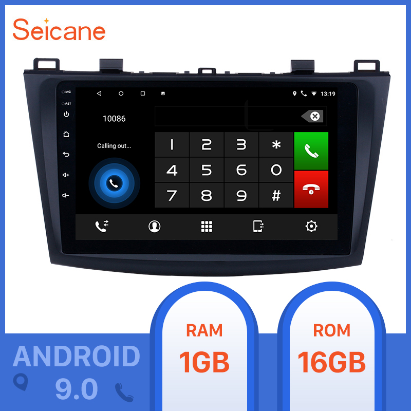 Seicane 9inch Android 9.0 <font><b>Car</b></font> GPS <font><b>Radio</b></font> <font><b>car</b></font> Multimedia Player for 2009 <font><b>2010</b></font> 2012 <font><b>MAZDA</b></font> <font><b>3</b></font> Touchscreen support Bluetooth wifi image