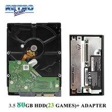 """80GB 3.5 """"SATA HDD עם ps2 23 משחקים מותקן ו Gamestar רשת מתאם עבור PS2 משחק קונסולה"""
