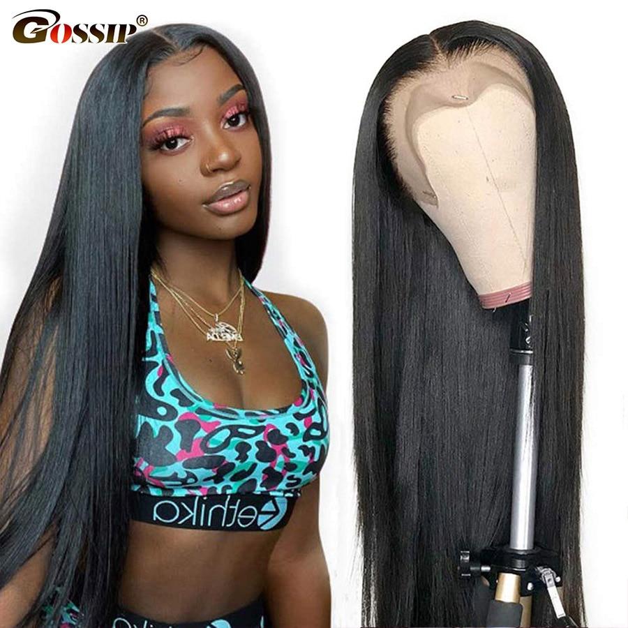 Hd peruca frontal do laço transparente osso em linha reta do cabelo peruca dianteira do laço perucas de cabelo humano para preto 13x4x1 t parte peruca do laço remy