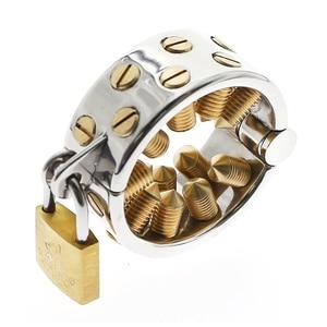 Зубы калий 2 ряда золотые длинные зубы Мошонка Кулон Мужской целомудрия устройство калис зубы целомудрия устройство Спайк мужские игрушки