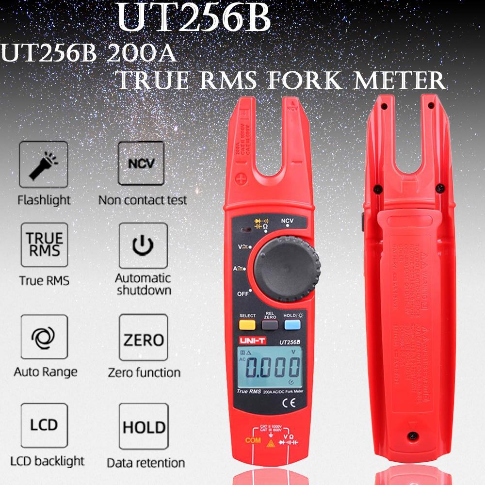 Uni-t ut256b true RMS LCD digital Fork Meter 200A large current  AC DC Clamp ammeter NCV current resistance capacitance test