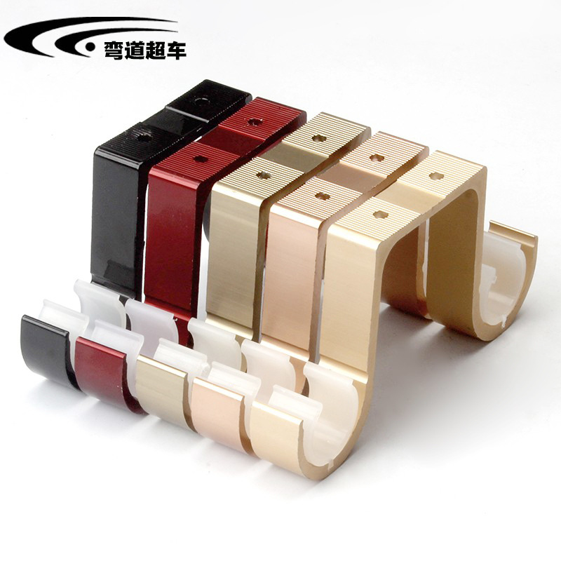 Thick Load-Bearing Double Poles Ceiling Mounted Rome Rod Curtain Rod Bracket Base Curtain Shelf Brace Accessories