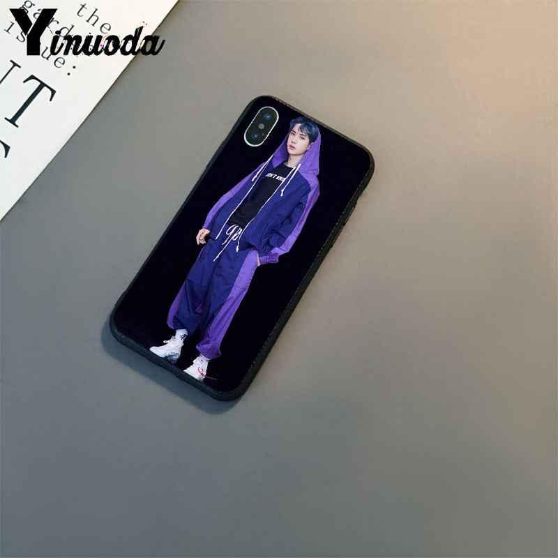 En olgunlaşmamış Wang Yibo siyah telefon kılıfı kapak Apple iPhone 11 8 7 6 6S artı X XS MAX 5 5S SE XR 11 pro kapak