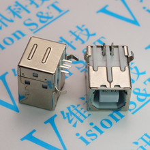 B female 90 degrees square mouth USB socket rectangular printer connected USB interface D type(China)