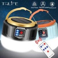 Solarna oświetlenie namiotu Camping żarówka LED praca dezynfekcja USB akumulator 190W 280W dla BBQ turystyka
