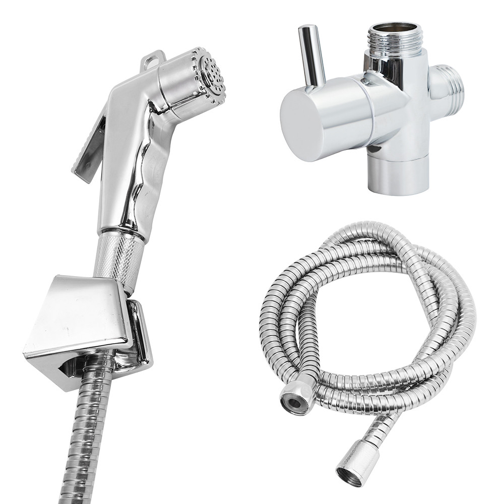 Toilet Handheld Shattaf Bidet Sprayer Hand Held Stainless Steel Shower Head Douche Toilet Bidet Spray Wash Jet Shattaf Diverter