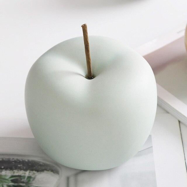 Modern Macaron Home Decor Ceramic Apple Figurines Fruit Arts & Crafts Home Decoration Accessories Sweet Tabletop Ceramic Statues 2