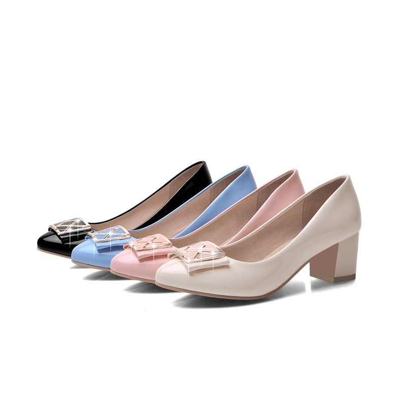 EGONERY ayakkabı 2019 İlkbahar yaz kadın moda pompaları yüksek topuklu moda siyah bej pembe ayakkabı kadın yüksek topuklu pompalar bayanlar