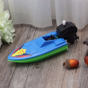 Image 4 - 1pcs Baby Bath Toy Kids Wind Up Clockwork Boat Ship Dabbling Toys Water Play Bathroom Bathing Toy for Children Random Color