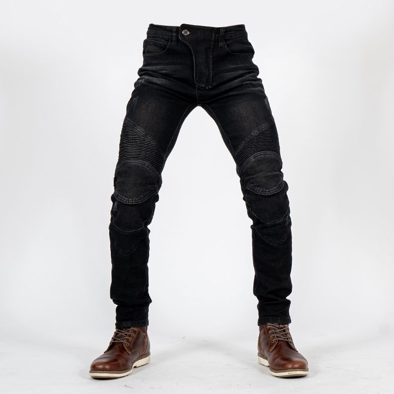 New 2019 Men and women riding jeans Motorcycle riding anti-fall pants Outdoor cycling Pants with knee pads