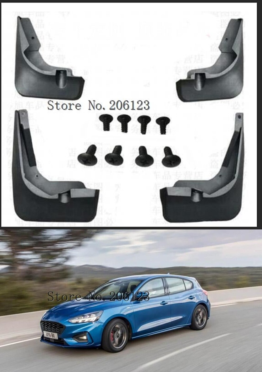 Car Mudguards for Ford Focus 3 MK3 Sedan 2011 2012 2013 2014 2015 2016 Fender New Splash Guards Mud Flaps Accessories Car Bottom Protection Front and Rear 4pc Set