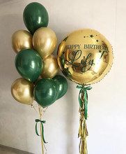 11-18Pcs Bunch Balloon Ink Green Jungle Theme Latex Balloon Wedding Birthday Party Decoration Festival Celebration Supplies