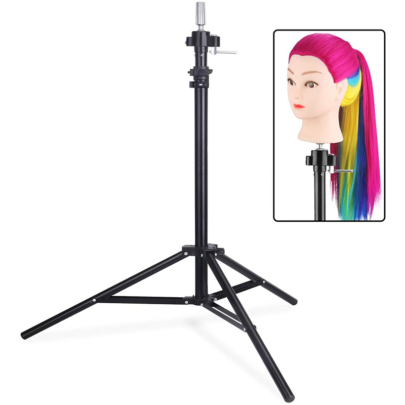 Tripod Stand For Hairdressing Training Head Firm Adjustable Stand Holder For Canvas Block Wig-Training Mannequin Head