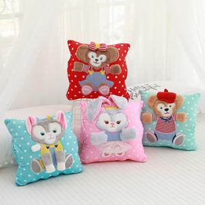 Мультяшная Duffy Bear Friends stellalou rabbit ShellieMay Gelatoni Подушка сложенное одеяло подушка для автомобиля одеяло