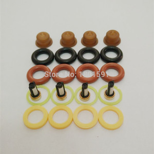 Image 4 - 4sets  Fuel injector repair kit /injector parts for bosch universal including micro filter oring plastic gasket pintle cap
