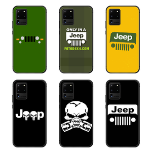 Jeep cool car Phone Case Cover Hull For Samsung Galaxy S 6 7 8 9 10 e 20 edge uitra Note 8 9 10 plus black hoesjes luxury coque