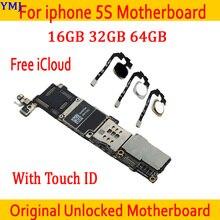 Полностью разблокированная для iphone 5S материнская плата, Оригинальная для iphone 5S материнская плата с сенсорным ID/без Touch ID