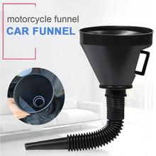2 in 1 Plastic Funnel Can Spout For Oil Water Fuel Petrol Diesel Gasoline Car High Quality Funnel for Fuel Car Accessories