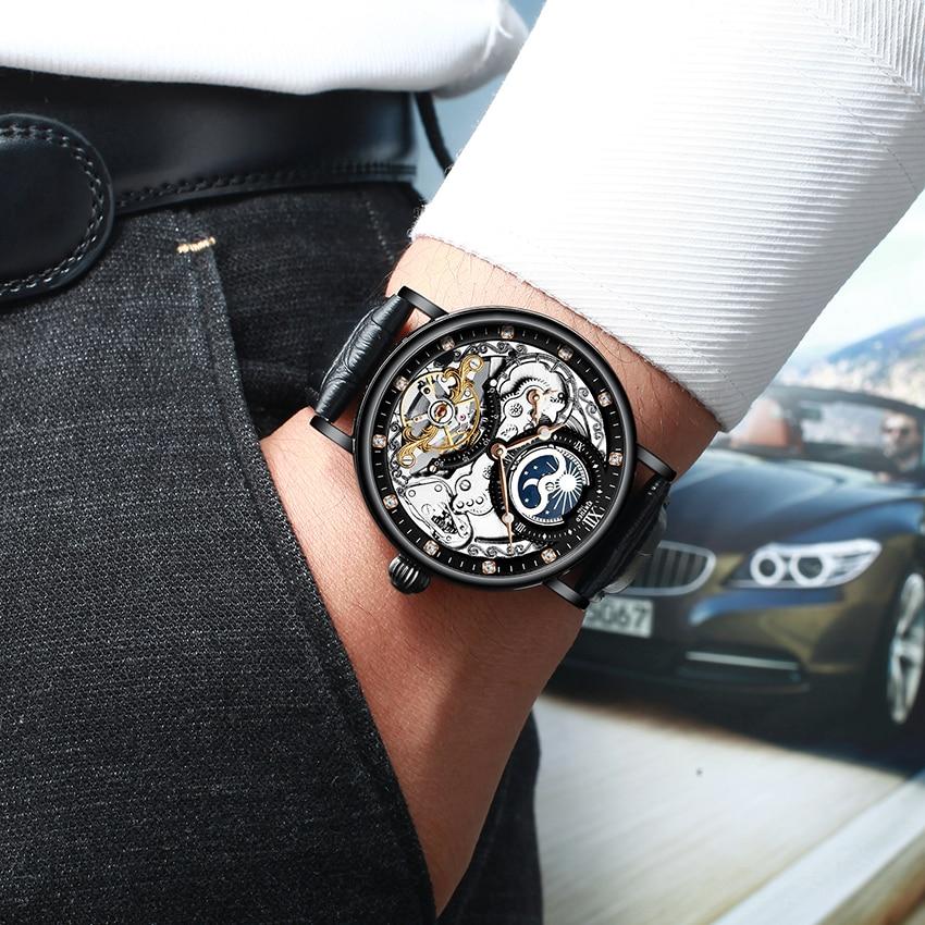 H1377a1d45dcd4d41a1e355f4a5d041e2Z KINYUED Skeleton Watches Mechanical Automatic Watch Men Tourbillon Sport Clock Casual Business Moon Wrist Watch Relojes Hombre