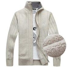 Clearance Winter Sweater Men Cardigan Male Fleece Standard Wool Sweater
