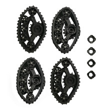 4PCS RC Car Snow Track Wheel Rubber Parts For WPL B14 B24 C14 C24 Fayee FY001 FY002 FY003 FY004 1/16 Truck Spare Upgrade Parts(China)