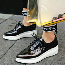 Tennis Shoes Creepers Women Cow Leather Wedges Platform Pumps Lace Up Pointed Toe High Heel Ankle Boots Punk Goth Trainers