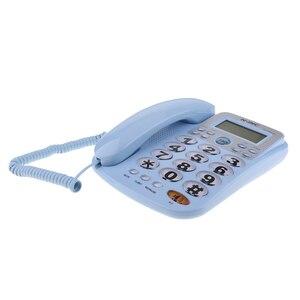 Image 4 - Teléfono fijo con cable Universal, escritorio de negocios para el hogar y la Oficina, 2019 nuevo, de alta calidad