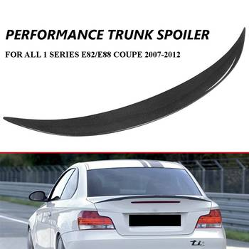 Real Carbon Fiber E82 E88 Car Rear Trunk Boot Lip Spoiler Wing Lid For BMW E82 E88 120i 128i 135i For Coupe 2007-2012 image