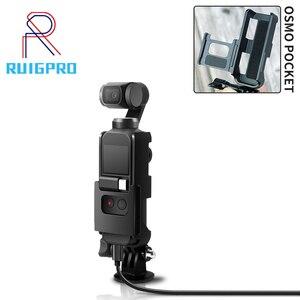 Image 1 - Soporte de montaje con tornillo 1/4 para DJI Osmo Pocket interfaz de cámara y soporte de Cámara de Acción para trípode Selfie Stick bicicleta