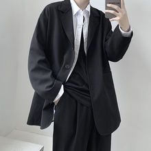 Мужской свободный пиджак goth повседневный однотонный блейзер