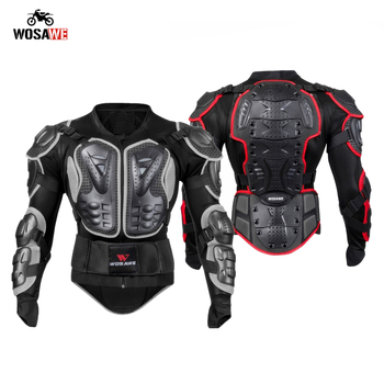 wosawe motorcross back protector skating snow body armour motorcycle spine guard moto jacket kneepads elbow guard moto armor WOSAWE Motorcycle Armor Jacket Moto Full Body Protective Armor Motocross Ourdoor Sports Hip Guard Chest Back Protector Armor