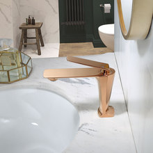 Bathroom Faucet Rose Gold Basin Faucet Cold And Hot Water Mixer Sink Faucet Tap Single Handle Deck Mounted Brushed Gold Tap fashion high quality wall mounted single cold spring sink faucet basin faucet tap mixer