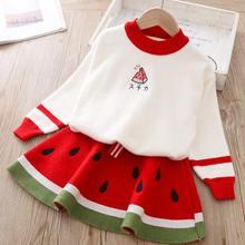 Girls Watermelon Suit 2020 Brand Kids Winter Knit Children Autumn Clothing Sets Cartoon Clothes