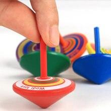Jouet de décompression en bois pour enfants et adultes, jouet Gyr coloré amusant, anti-Stress, pour l'anxiété, 1/5 pièces