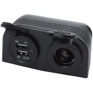 Двойной Лодка Караван Автомобильный USB прикуриватель Разветвитель 12V зарядное устройство адаптер