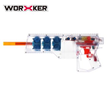 Children Toys Soft Bullet Toy Gun Launcher 40 Rounds Clip Six Flywheels Fully Automatic Toy Gun