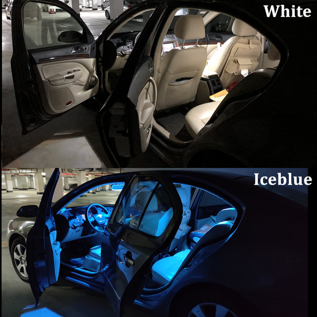 6x Canbus Error Free Interior LED Bulb Map Dome Roof Light Kit For Nissan Leaf ZE0 2011-2017 Accessories Car Lamp styling 4