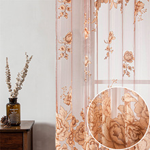 Tulle Curtains Bedroom Window-Decora Living-Room Embroidered Voile Custom-Made for Jacquard