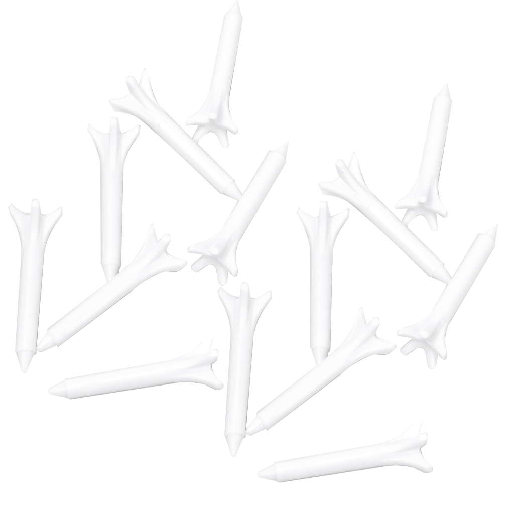 Pack 100 Plastic Golf Tees, 1 1/2 inch - Golf Practicing for Golfer - Unbreakable & Durable