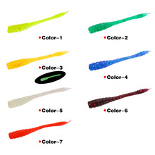 50pcs/package Soft Bait Simulation Fake Lure Road Asia 0.4g/4.5cm Aphid False Insect Red Free Shipping