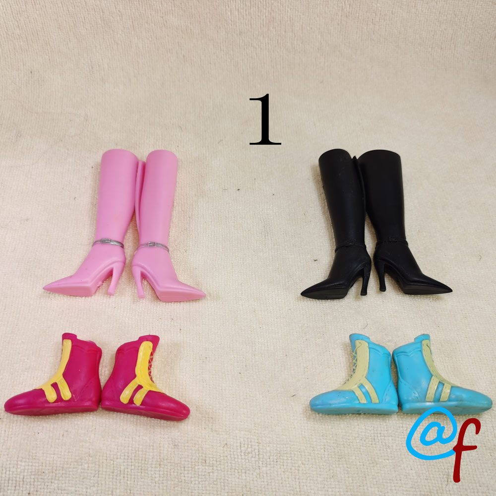 4pairs Original Foreign Trade Beauty 1/6 30cm OOAK NUDE Doll Accessories Doll High-heeled Shoes And Boots