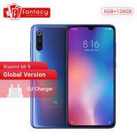 "Version mondiale Xiao mi mi 9 mi 9 Snapdragon 855 6GB RAM 128GB ROM 6.39 ""AMOLED affichage Smartphone 48MP Triple caméra Smartphone"