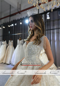 Image 4 - 2020 אוסף אמנדה novias מותג אמיתי עבודה חתונת שמלת כלה שמלה