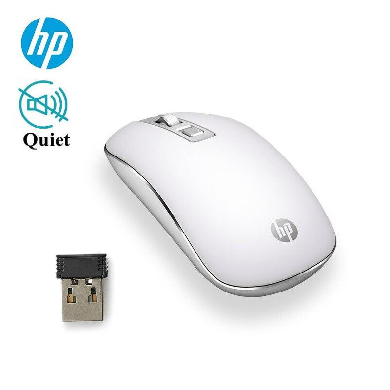 Беспроводная оптическая портативная мини-мышь HP Mouse S4000, 800/1200/1600 DPI, регулируемая, 2,4 ГГц, для ноутбука, игровой мыши, Прямая поставка