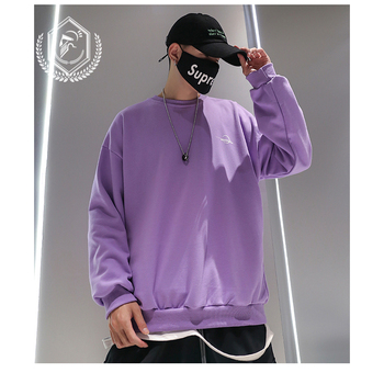 Men Fashion Flowers Print Casual Pullover Hip Hop Sweatshirts