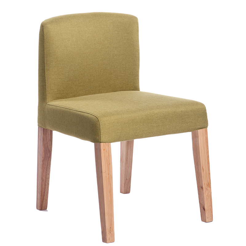 New European Solid Wood Leather Computer Chair Home Dining Chair Low Back Fashion Simple Furniture Chair